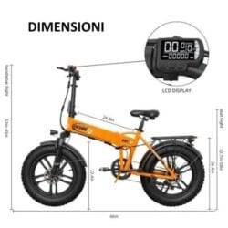 engwe ep-2 fat bike 20 pollici dimensioni